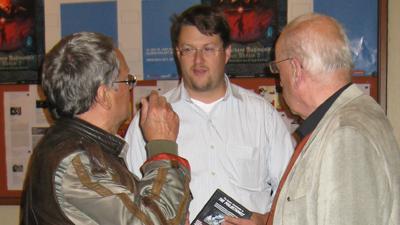 Gustav Ehmck, Festival Director Martin Blankemeyer and Peter Schamoni